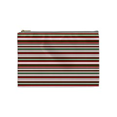 Christmas Stripes Pattern Cosmetic Bag (medium)  by patternstudio