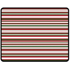 Christmas Stripes Pattern Fleece Blanket (medium)  by patternstudio