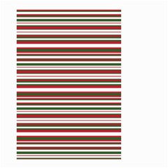 Christmas Stripes Pattern Small Garden Flag (two Sides) by patternstudio