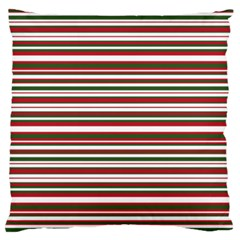 Christmas Stripes Pattern Large Cushion Case (one Side) by patternstudio