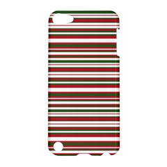 Christmas Stripes Pattern Apple Ipod Touch 5 Hardshell Case by patternstudio