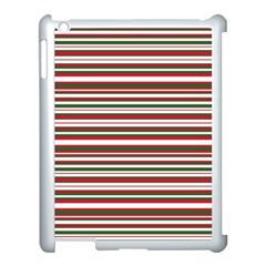 Christmas Stripes Pattern Apple Ipad 3/4 Case (white) by patternstudio