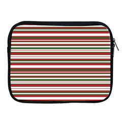 Christmas Stripes Pattern Apple Ipad 2/3/4 Zipper Cases by patternstudio