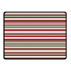 Christmas Stripes Pattern Double Sided Fleece Blanket (small)  by patternstudio
