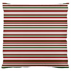 Christmas Stripes Pattern Large Flano Cushion Case (two Sides) by patternstudio