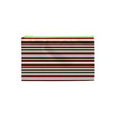 Christmas Stripes Pattern Cosmetic Bag (xs) by patternstudio