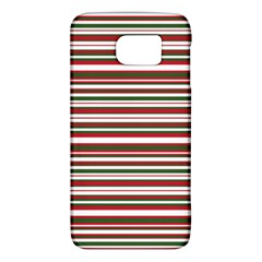 Christmas Stripes Pattern Galaxy S6 by patternstudio