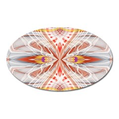 Heart   Reflection   Energy Oval Magnet by Cveti