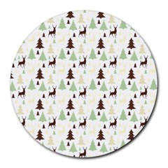 Reindeer Tree Forest Round Mousepads by patternstudio
