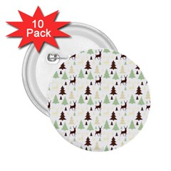 Reindeer Tree Forest 2 25  Buttons (10 Pack)  by patternstudio