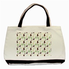 Reindeer Tree Forest Basic Tote Bag (two Sides) by patternstudio