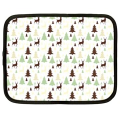 Reindeer Tree Forest Netbook Case (large) by patternstudio