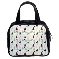 Reindeer Tree Forest Classic Handbags (2 Sides) by patternstudio