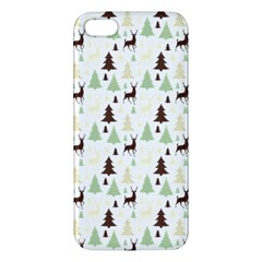 Reindeer Tree Forest Apple Iphone 5 Premium Hardshell Case by patternstudio