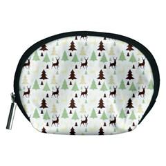 Reindeer Tree Forest Accessory Pouches (medium)  by patternstudio