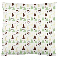 Reindeer Tree Forest Large Flano Cushion Case (one Side) by patternstudio