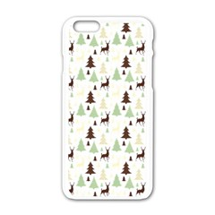 Reindeer Tree Forest Apple Iphone 6/6s White Enamel Case by patternstudio