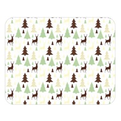 Reindeer Tree Forest Double Sided Flano Blanket (large)  by patternstudio