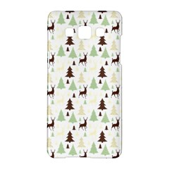 Reindeer Tree Forest Samsung Galaxy A5 Hardshell Case  by patternstudio