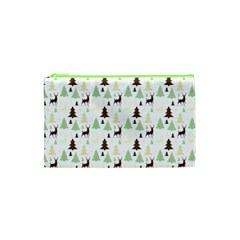 Reindeer Tree Forest Cosmetic Bag (xs) by patternstudio