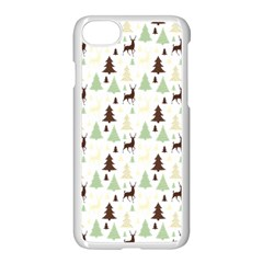 Reindeer Tree Forest Apple Iphone 7 Seamless Case (white) by patternstudio