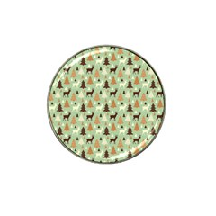 Reindeer Tree Forest Art Hat Clip Ball Marker (4 Pack) by patternstudio