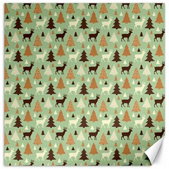 Reindeer Tree Forest Art Canvas 20  X 20   by patternstudio