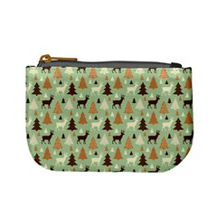 Reindeer Tree Forest Art Mini Coin Purses by patternstudio