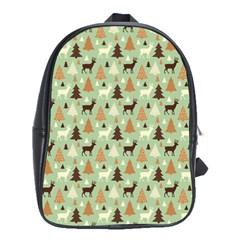Reindeer Tree Forest Art School Bag (large) by patternstudio