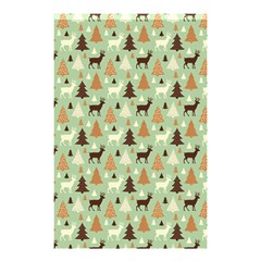 Reindeer Tree Forest Art Shower Curtain 48  X 72  (small)  by patternstudio