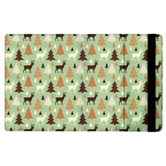 Reindeer Tree Forest Art Apple Ipad 3/4 Flip Case by patternstudio