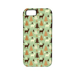 Reindeer Tree Forest Art Apple Iphone 5 Classic Hardshell Case (pc+silicone) by patternstudio