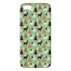 Reindeer Tree Forest Art Apple Iphone 5 Premium Hardshell Case by patternstudio