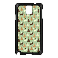Reindeer Tree Forest Art Samsung Galaxy Note 3 N9005 Case (black) by patternstudio