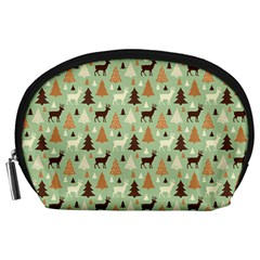 Reindeer Tree Forest Art Accessory Pouches (large)  by patternstudio