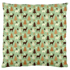 Reindeer Tree Forest Art Standard Flano Cushion Case (two Sides) by patternstudio
