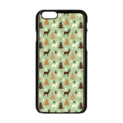 Reindeer Tree Forest Art Apple Iphone 6/6s Black Enamel Case