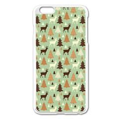 Reindeer Tree Forest Art Apple Iphone 6 Plus/6s Plus Enamel White Case by patternstudio