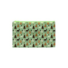 Reindeer Tree Forest Art Cosmetic Bag (xs) by patternstudio