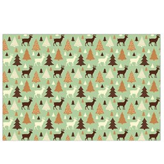 Reindeer Tree Forest Art Canvas Cosmetic Bag (small)