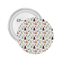 Reindeer Christmas Tree Jungle Art 2 25  Buttons by patternstudio