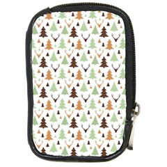 Reindeer Christmas Tree Jungle Art Compact Camera Cases by patternstudio