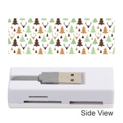 Reindeer Christmas Tree Jungle Art Memory Card Reader (stick)  by patternstudio