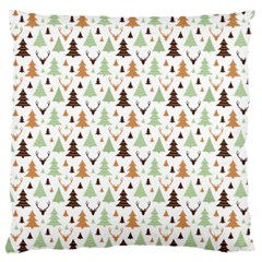 Reindeer Christmas Tree Jungle Art Standard Flano Cushion Case (two Sides) by patternstudio