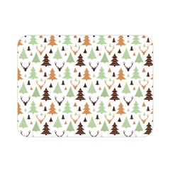 Reindeer Christmas Tree Jungle Art Double Sided Flano Blanket (mini)  by patternstudio