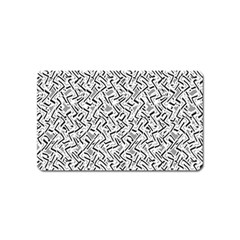 Wavy Intricate Seamless Pattern Design Magnet (name Card) by dflcprints