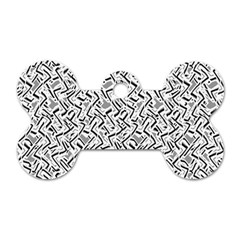 Wavy Intricate Seamless Pattern Design Dog Tag Bone (two Sides) by dflcprints