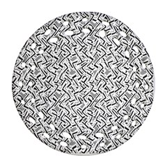Wavy Intricate Seamless Pattern Design Round Filigree Ornament (two Sides) by dflcprints