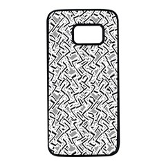 Wavy Intricate Seamless Pattern Design Samsung Galaxy S7 Black Seamless Case by dflcprints