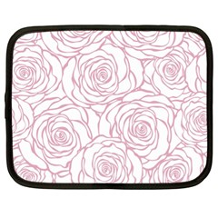 Pink Peonies Netbook Case (xl)  by 8fugoso